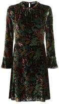 Sandro Velvet Floral Print Dress