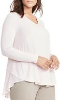 Lauren Ralph Lauren Plus Georgette-Back V-Neck Top