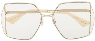 Gucci Oversized-Frame Tinted Sunglasses