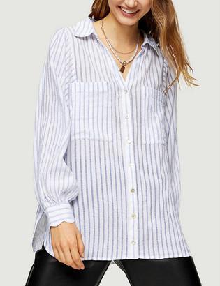 Topshop Casual stripe loose-fit cotton shirt