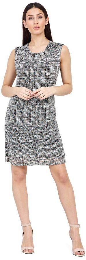 M&Co Izabel tweed print shift dress
