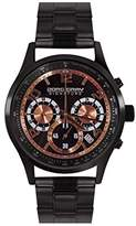 Jorg Gray Signature Collection Men's Quartz Watch with Black Dial Chronograph Display and Black Stainless Steel Bracelet JGS3570B