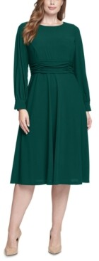 Jessica Howard Plus Size Long-Sleeve A-Line Dress