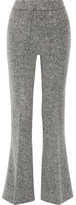 By Malene Birger Vassionah Boiled Wool-blend Flared Pants - Gray