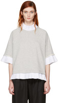 MM6 MAISON MARGIELA Grey Mock Layered Sweatshirt