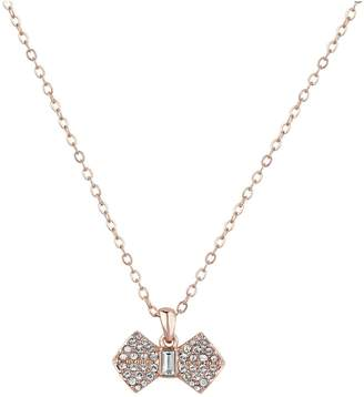 Ted Baker Sanra Solitaire Pave Bow Pendant Necklace- Rose Gold