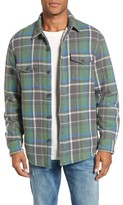 True Grit Men's Summit Hunter Plaid Faux Shearling Lined Shirt Jacket
