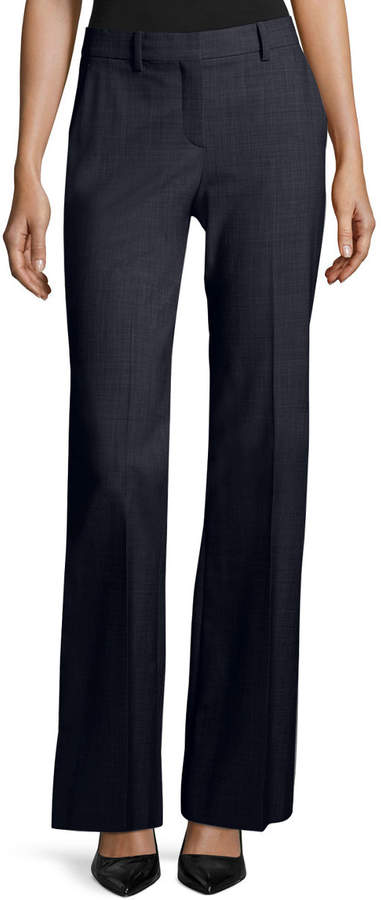 Theory Jotsna Continuous Stretch-Wool Pants