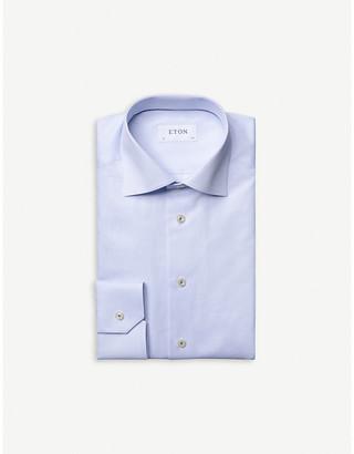 Eton Herringbone contemporary-fit cotton shirt
