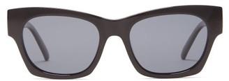 Le Specs Rocky Square Acetate Sunglasses - Womens - Black