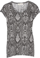 MICHAEL Michael Kors Printed Stretch-Jersey Top