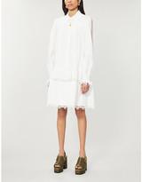 Designers Remix Sandra puffed-sleeve organic-cotton mini dress