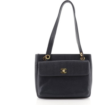 Chanel Front Pocket Tote Caviar Small