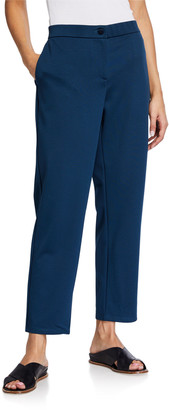 Eileen Fisher Petite Travel Ponte Ankle Pants