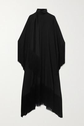 Taller Marmo - Mrs Ross Fringed Crepe Kaftan - Black