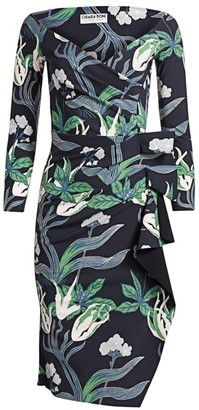 Chiara Boni Silveria Floral Wrap Dress