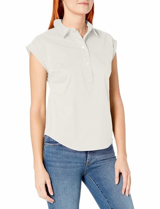 Nautica Women's Short Sleeve Solid Flowy Top