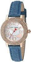 Betsey Johnson Women's Quartz Metal and Cloth Automatic Watch, Color:Blue (Model: BJ00251-11)