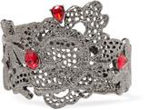 Oscar de la Renta Lace silver-tone crystal bracelet