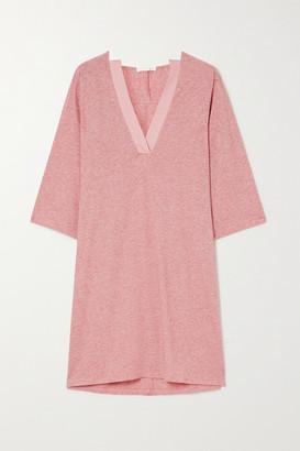 Skin Carolyn Melange Pima Cotton-jersey Nightdress - Pink