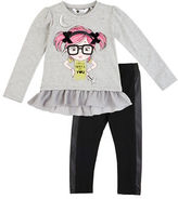 Petit Lem Girls 2-6x Magical Mischief Two-Piece Tunic and Leggings Set