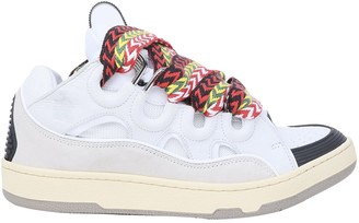 Lanvin White Curb Sneakers