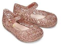 Mini Melissa Baby's& Girl's Dance Machine Ballerina Flats - Gold - Size 10 (Toddler)