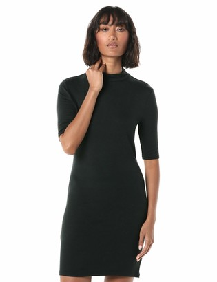 The Drop Women's Karen Short Sleeve Mock Neck Body Con Mini Dress