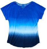 Erge Girls 7-16) Dip-Dye Crochet Back Top
