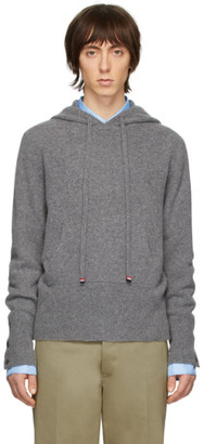 Thom Browne Grey Cashmere Over-Washed Hoodie