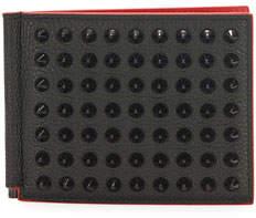 Christian Louboutin Clipsos Studded Leather Bi-Fold Wallet