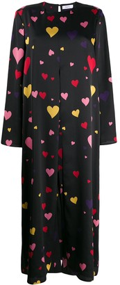 Racil Heart Print Midi Dress