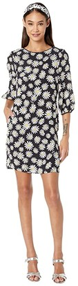 Boutique Moschino All Over Daisy Dress (Black Multi) Women's Clothing