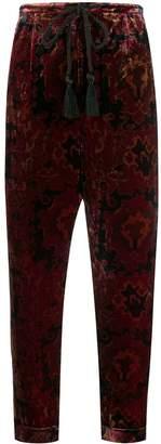 Mes Demoiselles Milo velvet cropped trousers
