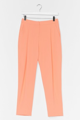 Nasty Gal Womens Suits You High-Waisted Tailored Trousers - Orange - 6