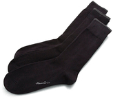 Kenneth Cole 3-Pair Ribbed Dress Socks