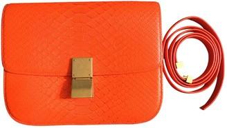 Celine Classic Orange Python Handbags