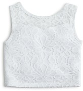 Sally Miller Girls' Lace Crop Top, Sizes S-XL - 100% Bloomingdale's Exclusive