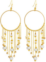 Nakamol Hoop Drop Earrings w/ Pearl-Chain Fringe, Multi