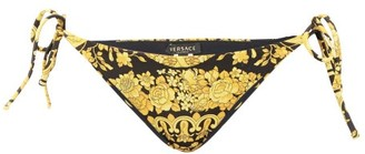 Versace Baroque-print Bikini Briefs - Black Gold