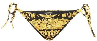 Versace Baroque-print Bikini Briefs - Womens - Black Gold