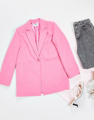 NA-KD oversized blazer in pink