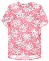 Valentino Floral-printed silk top