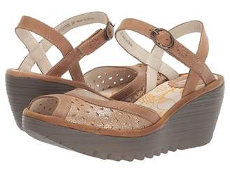 Fly London YUMO027FLY (Luna/Camel Cool/Rug) Women's Sandals