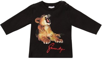 Givenchy Lion Printed Cotton Jersey T-shirt