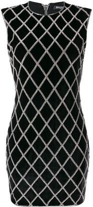 Balmain Embroidered Mini Dress