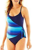 Liz Claiborne Surplice Ombré One-Piece Swimsuit