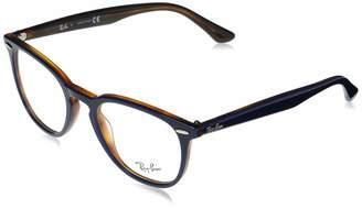 Ray-Ban Women's 0RX7159 Phantos Optical Non Polarized Round Prescription Eyewear Frames