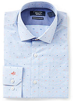 Original Penguin Heritage Slim-Fit Spread-Collar Stripe Dotted Dobby Dress Shirt