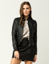 Joujou JOU JOU Womens Faux Leather Jacket
